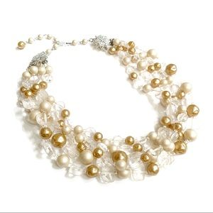 Vintage Cream Beaded Necklace